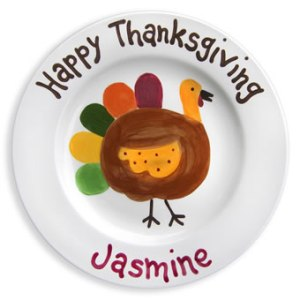 Personalized Turkey Thanksgiving Plate