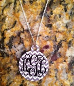 Personalized Aluminum Monogram Necklace