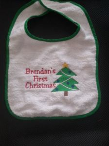 Personalized Christmas Baby Bib