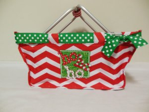 Personalized Holiday Market Tote