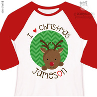 Reindeer Christmas Personalized Shirt