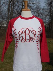 Baseball Monogrammed Shirt