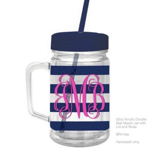 Monogrammed Tumbler Cup
