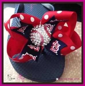 St. Louis Cardinals Bow Flip Flops