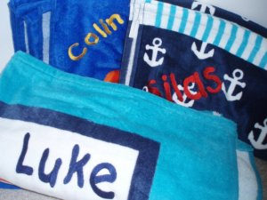 Personalized Monogrammed Beach Towels