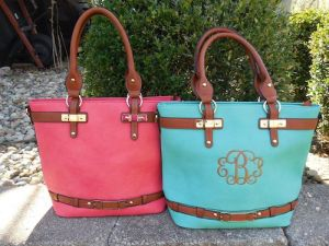 Monogrammed Tote Purse