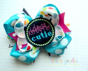 Kindergarten Cutie Girls Boutique Bow