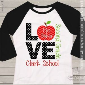 Teachers Personalized Back to School Shirt
