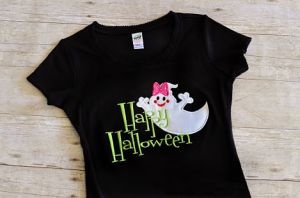 Happy Halloween Ghost Girl's Shirt