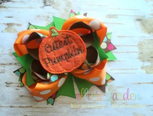 Cutest Pumpkin Girl's Boutique Bow