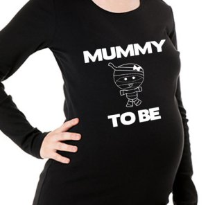 Mummy to Be Maternity Halloween Shirt
