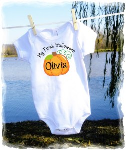 First Halloween Personalized Baby Onesie