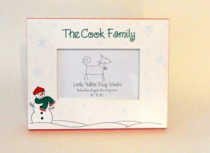 Personalized Christmas Snowman Picture frame