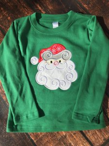 Swirly Santa Christmas Shirt