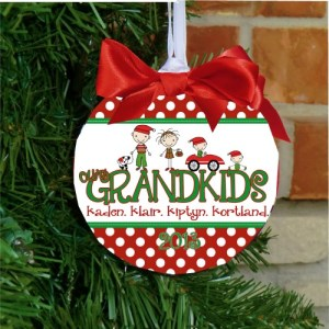 Personalized Grandkids Christmas Ornament