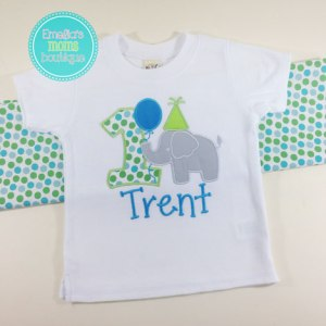 Personalized Circus Elephant Birthday Shirt