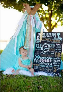 First birthday personalized chalkboard sign