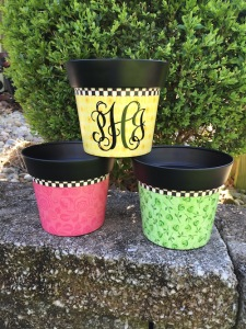 Personalized Monogram Art Pot