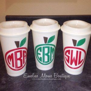 Teachers Monogram Coffee Tumbler Personalized