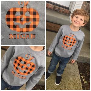 Personalized Pumpkin Halloween Shirt
