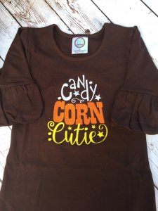 Candy Corn Girls Halloween Shirt