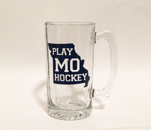 Missouri Hockey Blues Glass